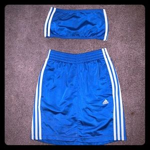 Adidas vintage-style reworked skirt set.